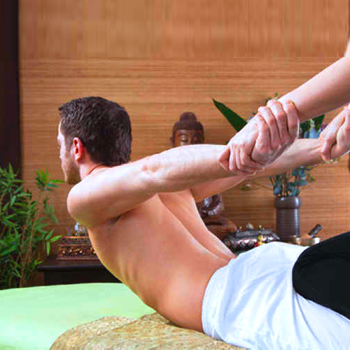 Body massage in